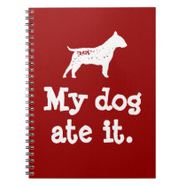 """Kid's """"My Dog Ate It"""" Back To School Notebook"""