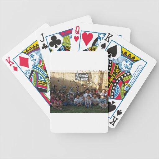 kids n bikes playing cards