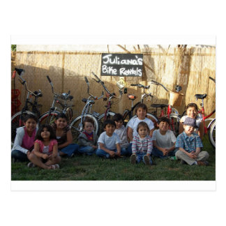 kids n bikes postcard