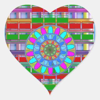 Kids n Guest Room Deco: Unique Rich Energy Prints Heart Sticker