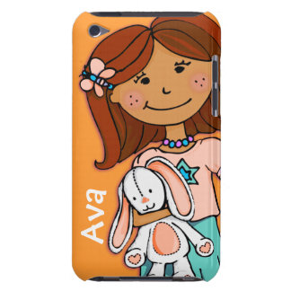 Kids name ipod touch girl cuddle orange iPod touch case