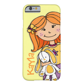 Kids name Kayla iphone girl cuddle yellow Barely There iPhone 6 Case