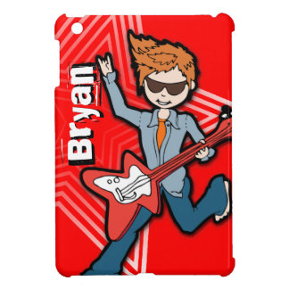 Kids name rockstar guitar boy red ipad mini iPad mini covers