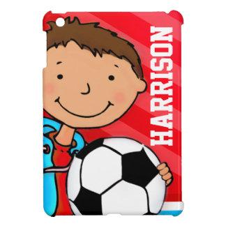 Kids name soccer / football boy red ipad mini cover for the iPad mini