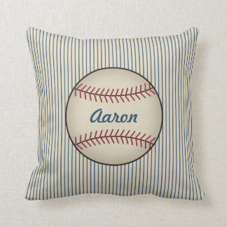 Kids  Name Sports Baseball Throw Pillow Gift