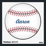 """Kid&#39;s Name Sports Baseball Wall Decal Decor<br><div class=""""desc"""">Personalize this fun baseball wall decal by changing the name. The design is from original art.</div>"""