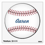 Kid&#39;s Name Sports Baseball Wall Decal Decor<br><div class='desc'>Personalize this fun baseball wall decal by changing the name. The design is from original art.</div>