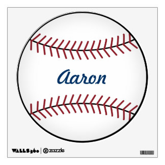 Kid's Name Sports Baseball Wall Decal Decor