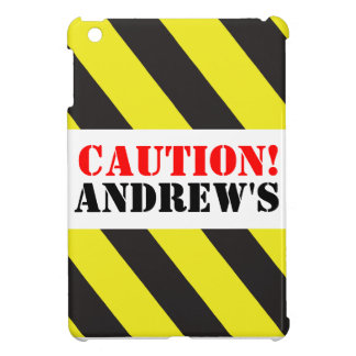 Kids named caution warning ipad mini case