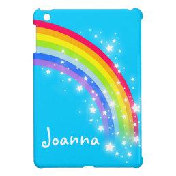 Kids named colorful rainbow purple ipad mini case