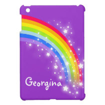 Kids named colorful rainbow purple ipad mini case for the iPad mini