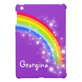 Kids named colorful rainbow purple ipad mini case for the iPad mini