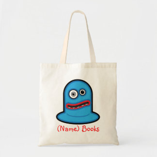 Kids named id blue monster book tote bag