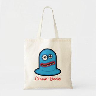 Kids named id blue monster book tote bag