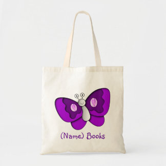 Kids named id butterfly book tote bag