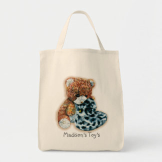 Kids named id toy or library tote bag