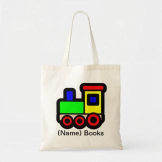 Kids named id Train book tote bag