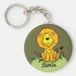Kids named lion keychain