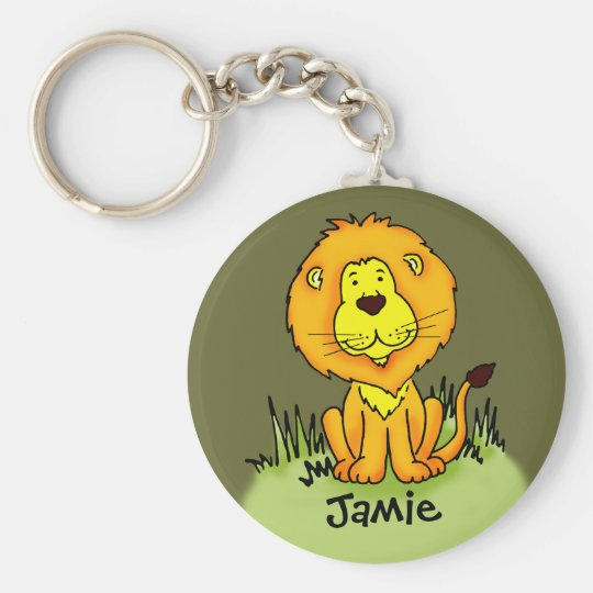 Kids named lion keychain
