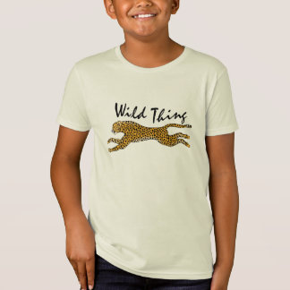 Kids Nature in Action Wild Cheetah Animal Gift T-Shirt