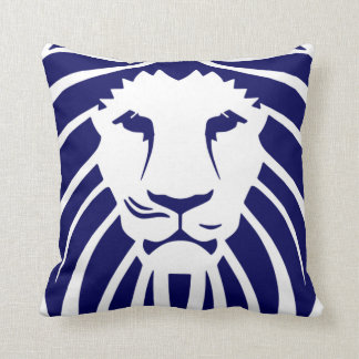 Kids Navy Blue Lion King of the Jungle Pillow