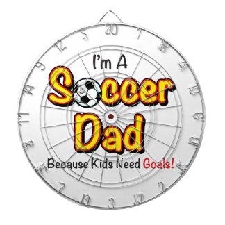 """Kids Need Goals"" Soccer Dad Dart Board"