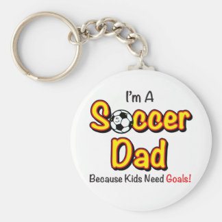 """""""Kids Need Goals"""" Soccer Dad Key Chains"""
