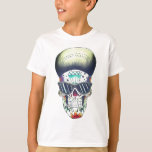 kids new school sugar skull t-shirt