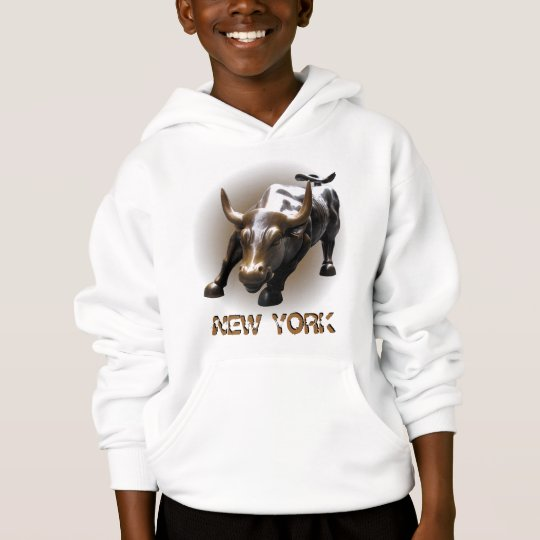 Kid's New York Bull Hoodie Kid's Souvenir NY Shirt