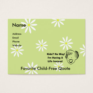 Kids No Way Business Card