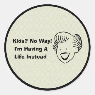 Kids No Way Classic Round Sticker