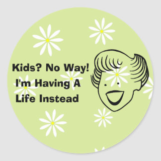 Kids No Way Classic Round Sticker