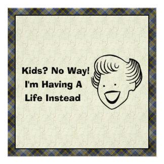 Kids No Way Invitations