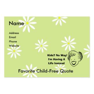 Kids No Way Large Business Card