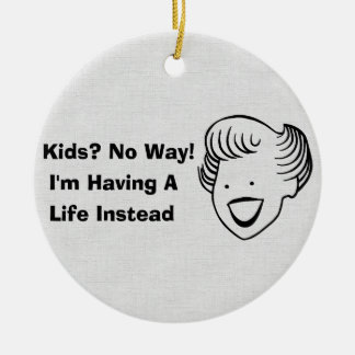 Kids No Way Double-Sided Ceramic Round Christmas Ornament