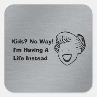 Kids No Way Square Sticker