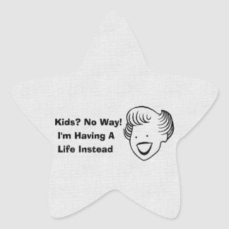 Kids No Way Star Sticker