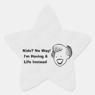Kids No Way Star Sticker
