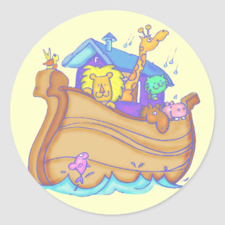 Kids Noahs Ark T Shirts and Gifts Classic Round Sticker