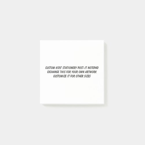 Kids Notepad  3 x 3 Or Any Size Your Art