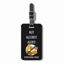 Kids Nut Allergy Alert with Epinephrine Image Bag Tag
