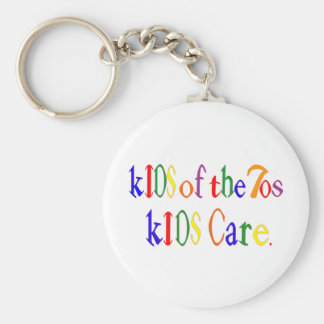 Kids of the 70's kIDS Care Basic Round Button Keychain