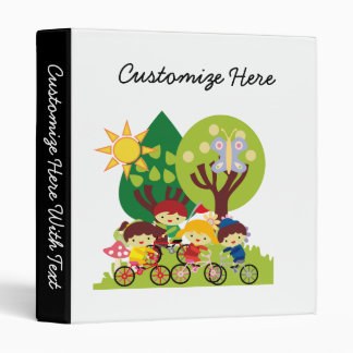 Kids on Bikes 3 Ring Binder