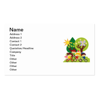 Kids on Bikes Business Card Templates