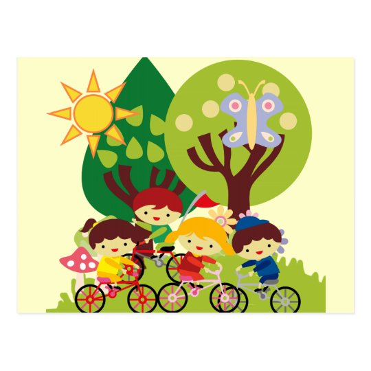 Kids on Bikes Postcard