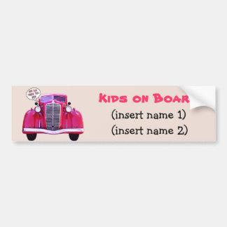 Kids on Board Car Bumper Sticker