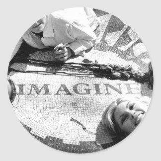 Kids on Imagine Circle Stickers