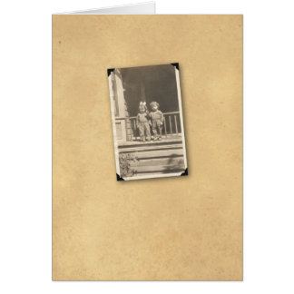 KIDS ON PORCH 1 CARD