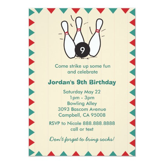 Kids or adults retro bowling birthday party invitation zazzle kids or adults retro bowling birthday party invitation filmwisefo