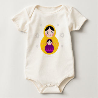 Kids organic Baby body with Matroshkas Baby Bodysuit